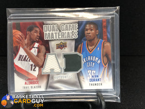 Kevin Durant/LaMarcus Aldridge 2009-10 Upper Deck Game Materials Dual #DGKL - Basketball Cards