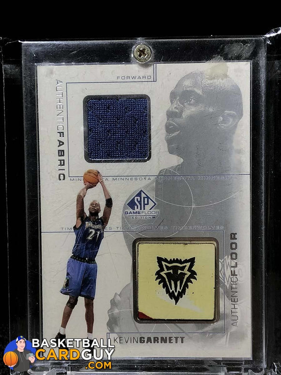 Kevin Garnett 2000-01 SP Game Floor Authentic Fabric/Floor Combo - Basketball Cards