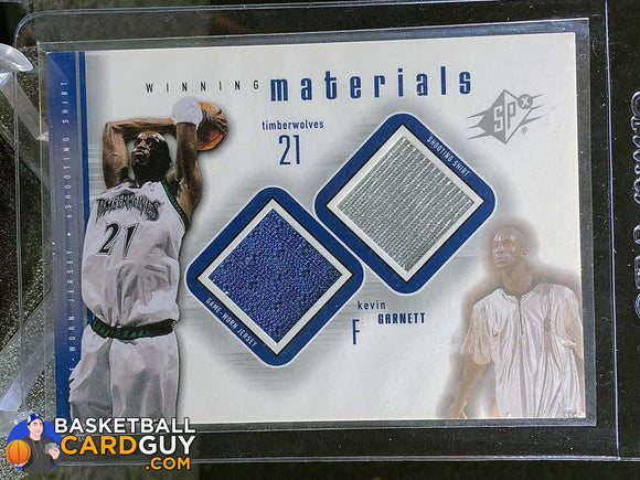 Kevin Garnett 2000-01 SPx Winning Materials #KG2 - Basketball Cards