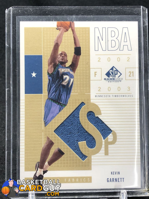 Kevin Garnett 2002-03 SP Game Used #56 SP JSY - Basketball Cards