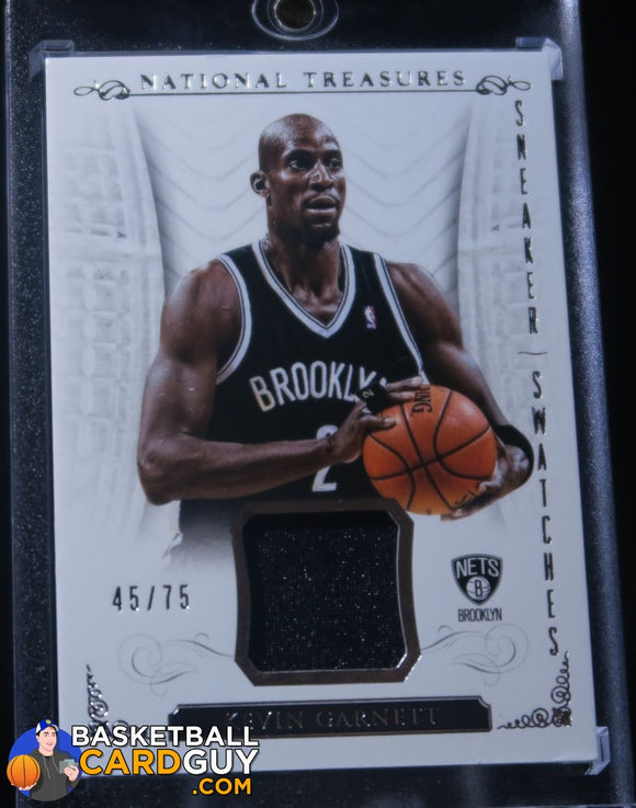 Kevin Garnett 2013-14 Panini National Treasures Sneaker Swatches /75 Basketball Card Numbered Patch