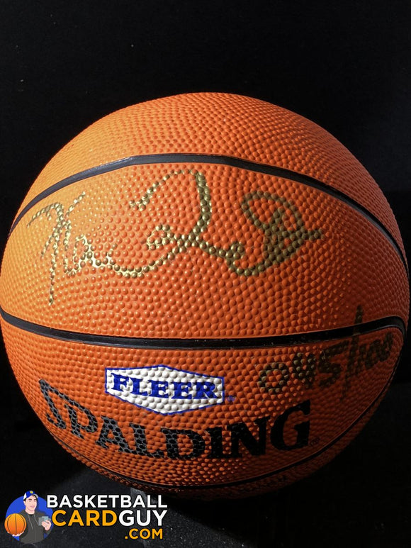 Kevin Garnett Autographed Mini Basketball Fleer Diamond Ink Points Redemption Century Marks Autograph Signed