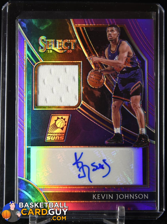 Kevin Johnson 2019-20 Select Autographed Memorabilia Prizms Purple #12 autograph, basketball card, jersey, numbered, prizm