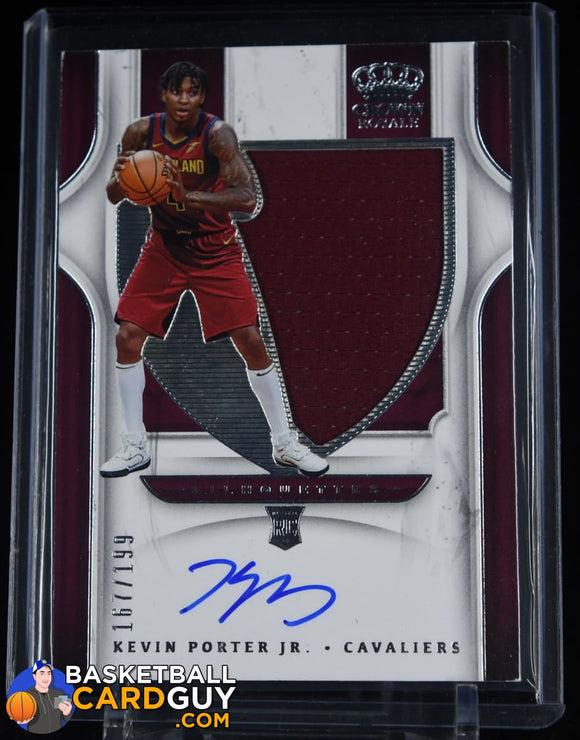 Kevin Porter Jr. 2019-20 Crown Royale #126 JSY AU/199 autograph, basketball card, jersey, numbered, rookie card