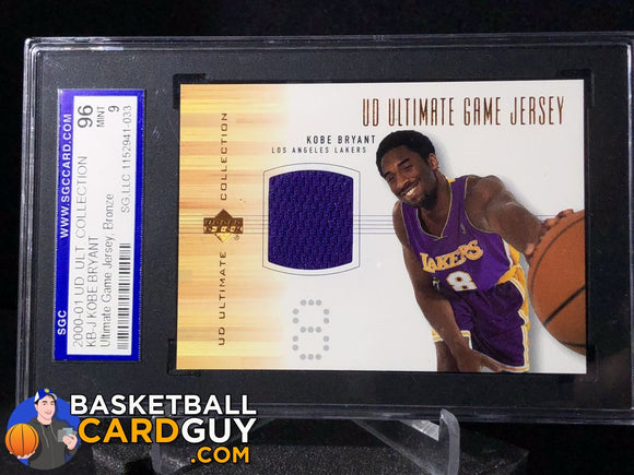 Kobe Bryant 2000-01 Ultimate Collection Game Jerseys Bronze - Basketball Cards
