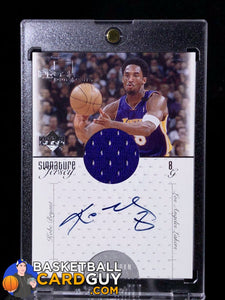Kobe Bryant 2000-01 Upper Deck Pros and Prospects Signature Jerseys - Basketball Cards