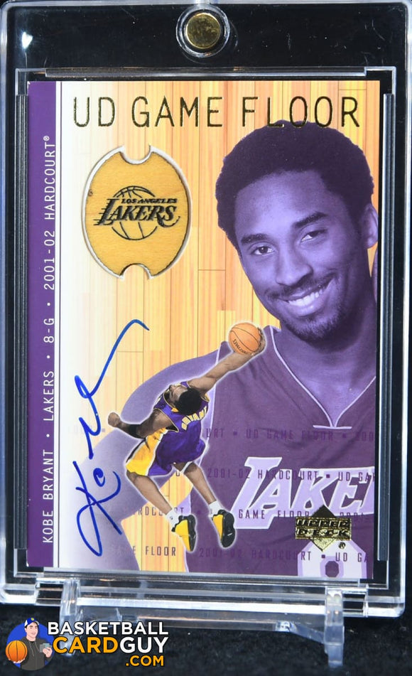 Kobe Bryant 2001-02 Upper Deck Hardcourt UD Game Floor Autographs #KBA - Basketball Cards