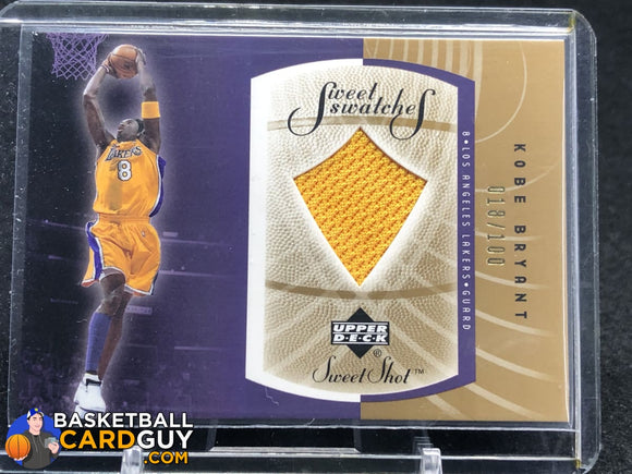 Kobe Bryant 2002-03 Sweet Shot Sweet Swatches Gold #/100 - Basketball Cards