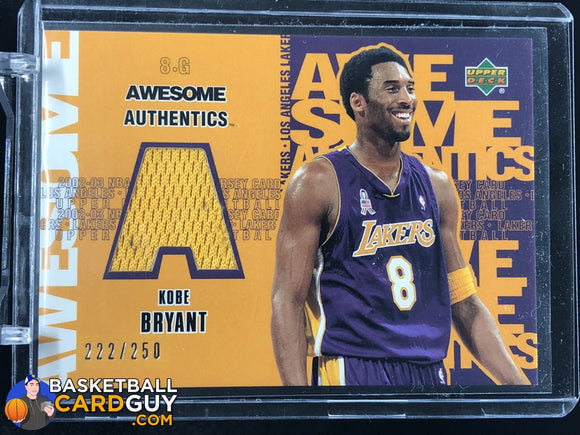 Kobe Bryant 2002-03 UD Authentics Awesome Authentics #/250 - Basketball Cards