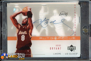 Kobe Bryant 2002-03 UD Glass Auto Focus #KB /50 - Basketball Cards