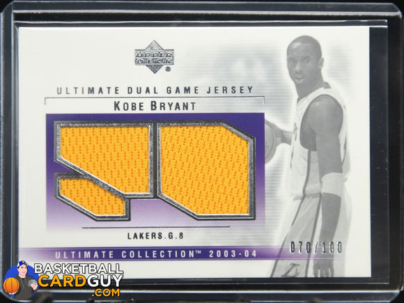 Kobe Bryant 2003-04 Ultimate Collection Jerseys Dual #/100 - Basketball Cards