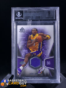 Kobe Bryant 2007-08 SP Game Used #125 JSY BGS 9 - Basketball Cards