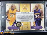 Kobe Bryant 2009-10 Timeless Treasures Home and Road Gamers Signatures #/25 - Basketball Cards