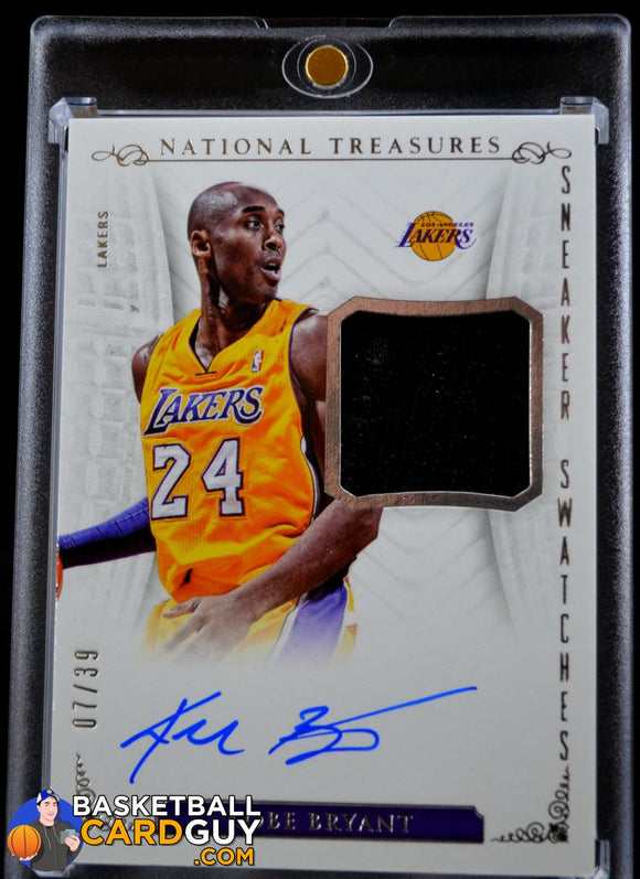 Kobe Bryant 2013-14 National Treasures Sneaker Swatches /39 Autograph Basketball Card Numbered Patch