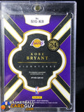 Kobe Bryant 2017-18 Select Signatures On Card Autograph Refractor /49 - Basketball Cards