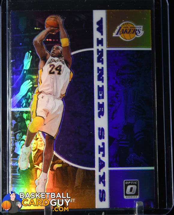 Kobe Bryant 2019-20 Donruss Optic Winner Stays Purple #12 basketball card, prizm, refractor
