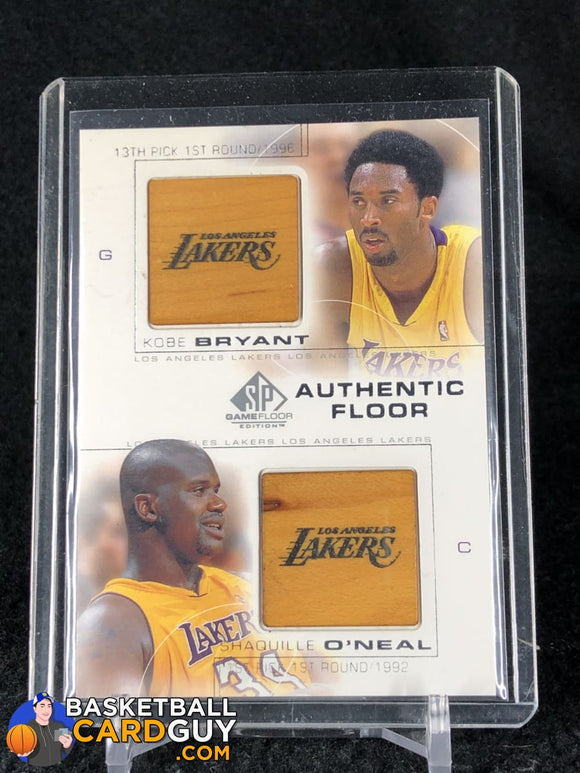 Kobe Bryant/Shaquille O'Neal 2000-01 SP Game Floor Authentic Floor Combos #C25 - Basketball Cards