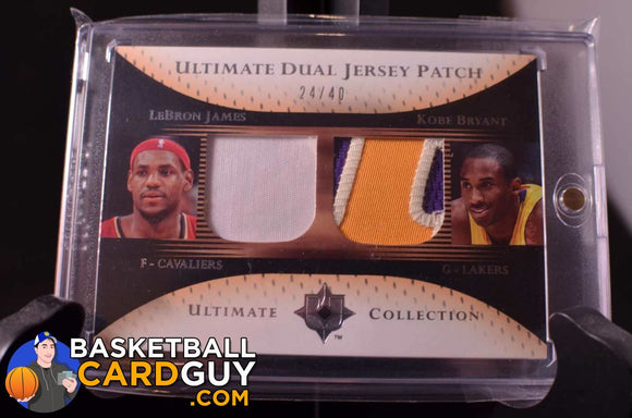 Kobe Lebron Dual Ultimate Patch 2005-06 24/40 Basketball Card Numbered Patch