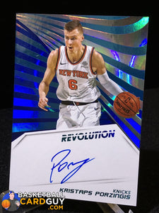 Kristaps Porzingis 2018-19 Panini Revolution Autographs Infinite #/25 - Basketball Cards