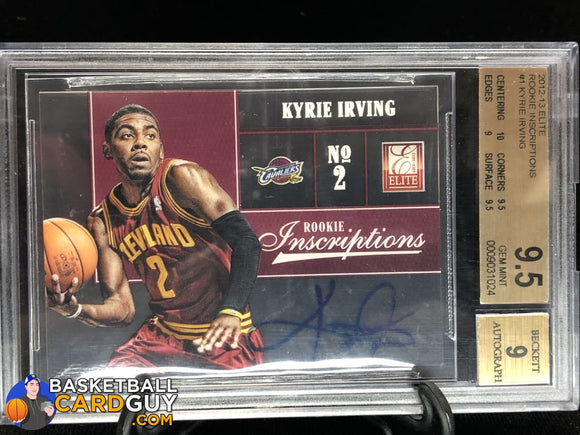 Kyrie Irving 2012-13 Elite Rookie Inscriptions #1 BGS 9.5 GEM MINT autograph basketball card graded numbered rookie card