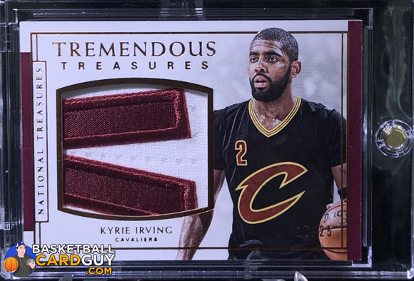 Kyrie Irving 2016-17 Panini National Treasures Tremendous Treasures Bronze #/25 - Basketball Cards