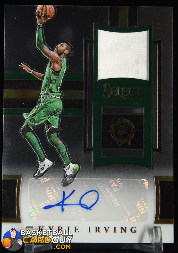 Kyrie Irving 2017-18 Select Autographed Memorabilia #/50 autograph, basketball card, jersey, numbered