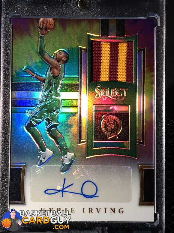 Kyrie Irving 2017-18 Select Autographed Memorabilia Prizms Tie Dye #/25 - Basketball Cards