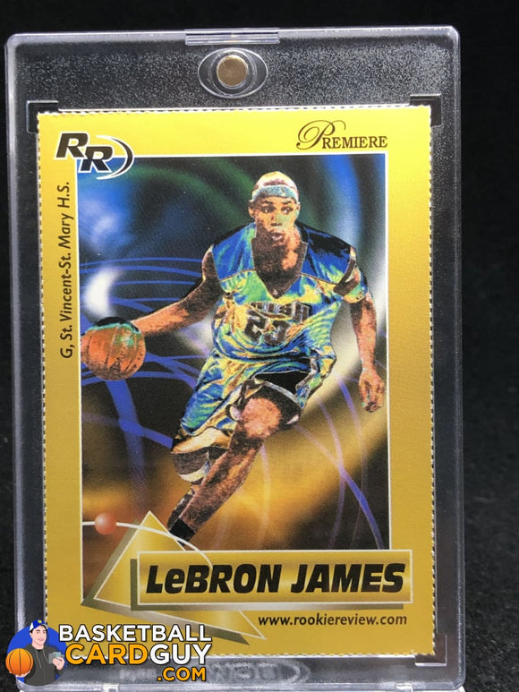 Lebron James 2003 Rookie Review Gold RC #/99 ULTRA RARE - Basketball Cards