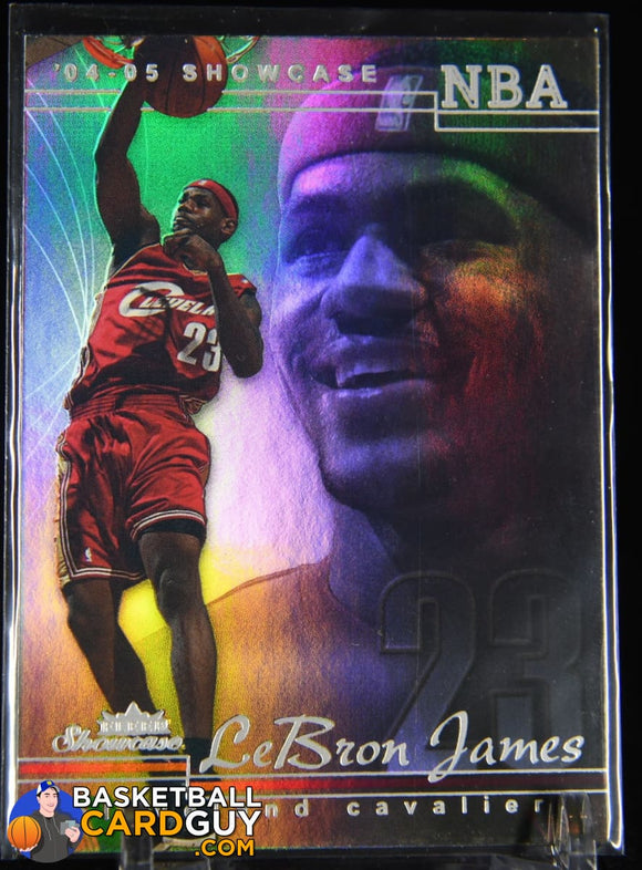 LeBron James 2004-05 Fleer Showcase #11 basketball card
