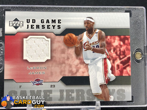 LeBron James 2005-06 Upper Deck Game Jerseys #LJ - Basketball Cards