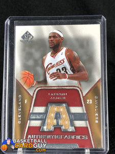 LeBron James 2007-08 SP Game Used Authentic Fabrics #AFLJ - Basketball Cards