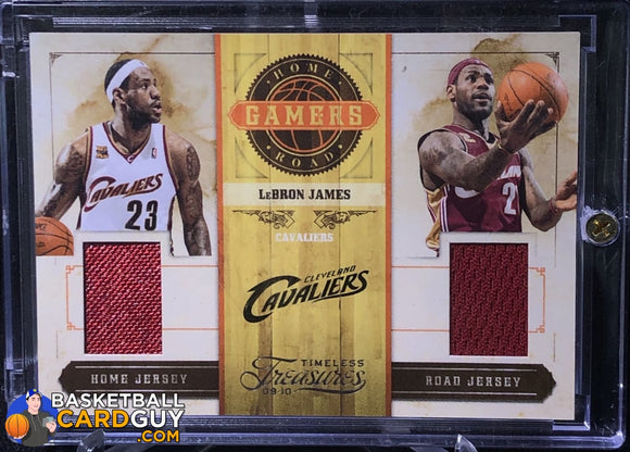 LeBron James 2009-10 Timeless Treasures Home and Road Gamers #/100 - Basketball Cards