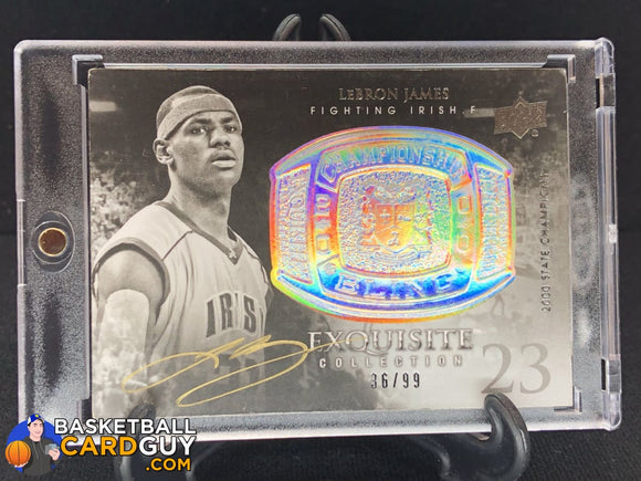 LeBron James 2011-12 Exquisite Collection Championship Bling Autographs #/99 - Basketball Cards