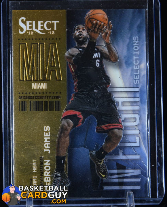 LeBron James 2012-13 Select In-Flight Selections #3 basketball card