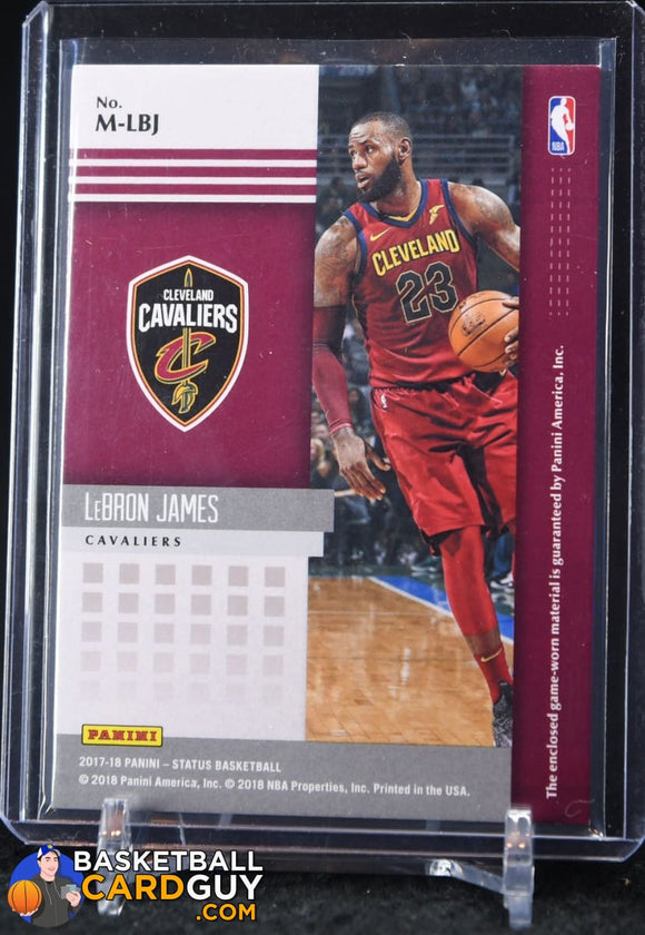 LeBron James 2017-18 Panini Status Materials #8 - Basketball Cards