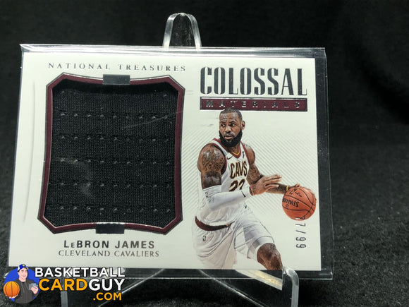 LeBron James 2018-19 Panini National Treasures Colossal Materials #/99 - Basketball Cards