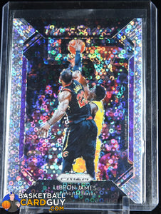 LeBron James 2018-19 Panini Prizm That's Savage! Fast Break #2 basketball card, prizm, refractor