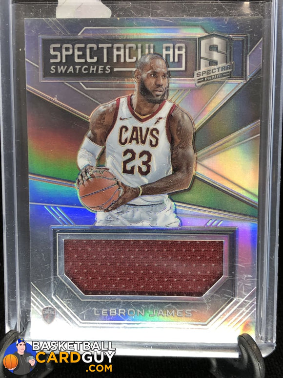 LeBron James 2018-19 Panini Spectra Spectacular Swatches #/99 - Basketball Cards