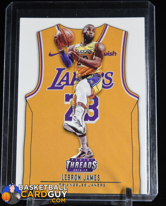 LeBron James 2018-19 Panini Threads #175 ICON SP basketball card