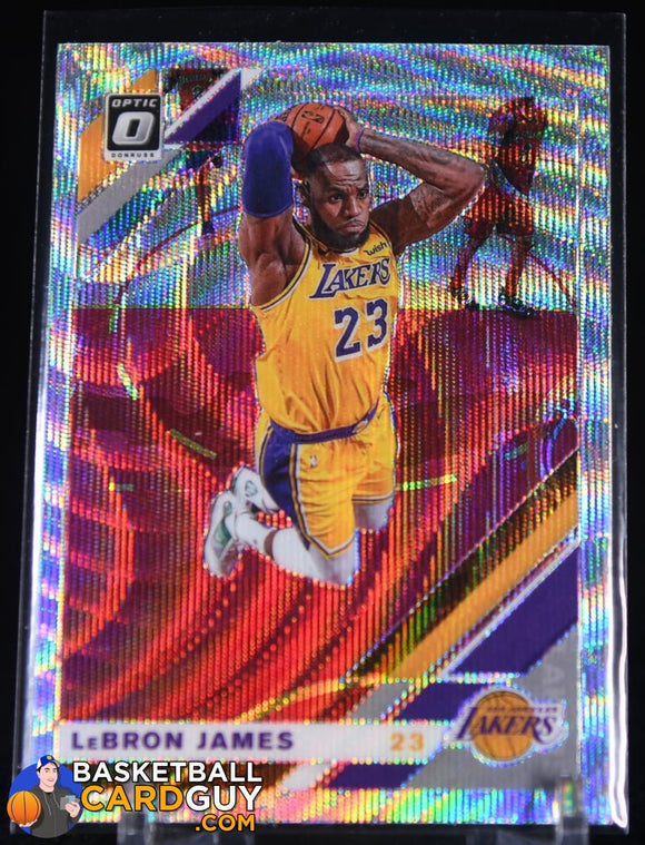 Lebron James 2019-20 Donruss Optic Silver Fanatics Exclusive #60 basketball card, rookie card