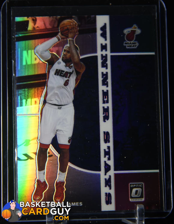 LeBron James 2019-20 Donruss Optic Winner Stays Purple #20 basketball card, prizm, refractor