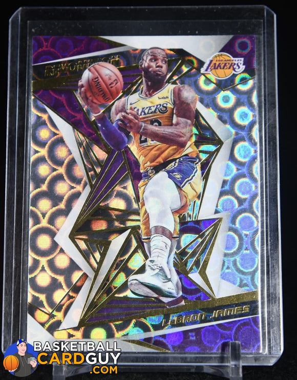 LeBron James 2019-20 Panini Revolution Groove #14 basketball card, prizm, refractor