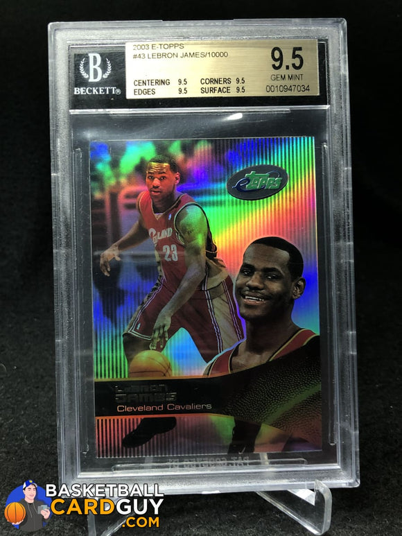 LeBron James RC 2003 eTopps BGS 9.5 Gem Mint - Basketball Cards