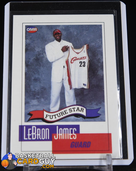 LeBron James Rookie 2003 OMR Future Star RC #NNO Cleveland Cavaliers basketball card, rookie card