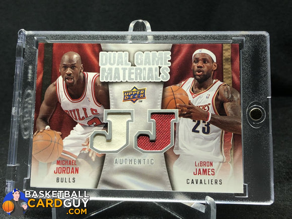 LeBron James/Michael Jordan 2009-10 Upper Deck Game Materials Dual #DGML - Basketball Cards