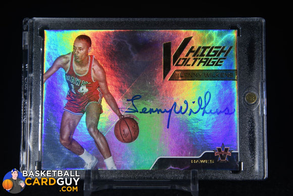 Lenny Wilkens 2017-18 Panini Vanguard High Voltage Signatures #/99 autograph, basketball card, numbered