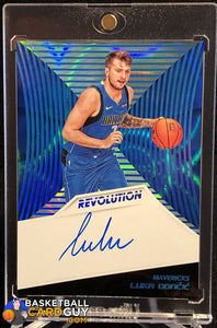 Luka Doncic 2018-19 Panini Revolution Rookie Autographs Infinite #/25 autograph basketball card numbered rookie card