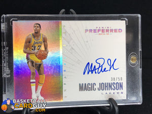 Magic Johnson 2015-16 Panini Preferred Unparalleled #/50 - Basketball Cards
