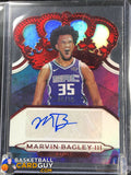 Marvin Bagley III 2018-19 Crown Royale Crown Autographs Rookies Red #/99 - Basketball Cards