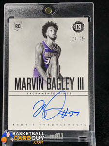 Marvin Bagley III 2018-19 Encased Rookie Endorsements #/75 - Basketball Cards
